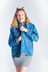 Perla Jeans + Boyfriend Denim Jacket