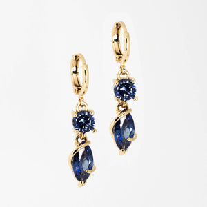 Long Blue Stone Earrings