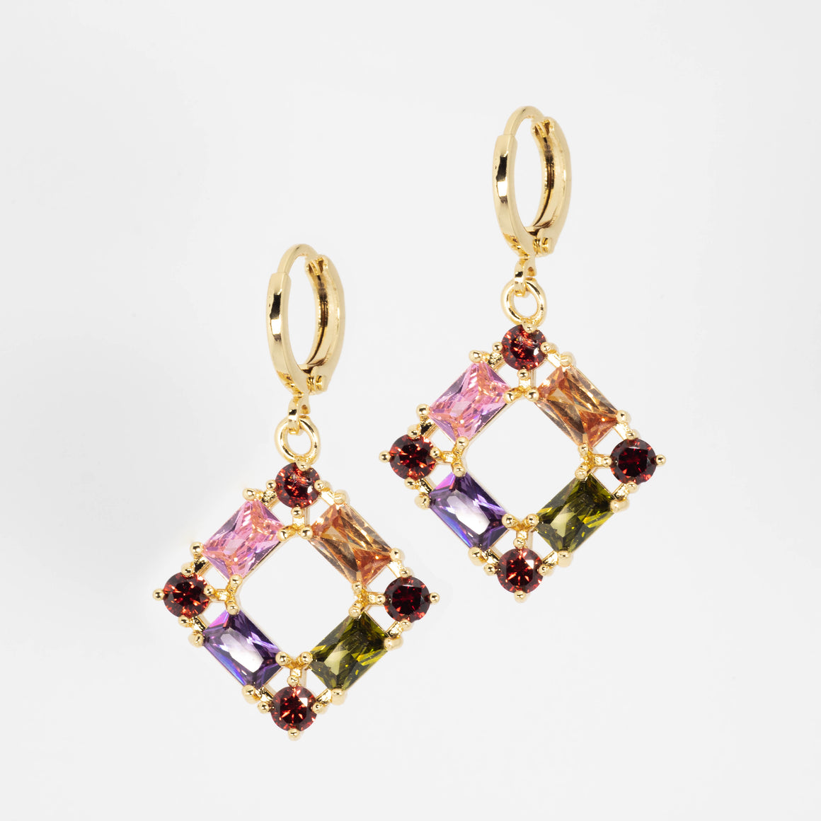 Colorful Dimond Earrings