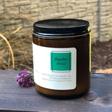 Bamboo Forest Scented Luxury Candle | Wooden Wick | Amber Jar 7.3 oz