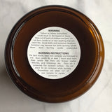 Vanilla Rose - 100% Soy Candle - Hand Poured Candle - Scented Candle - 7.3 oz. - Amber Collection