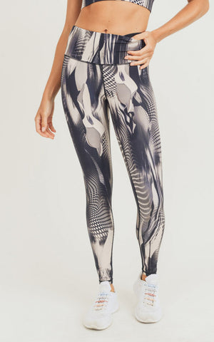 Abstract Bliss H/R Legging