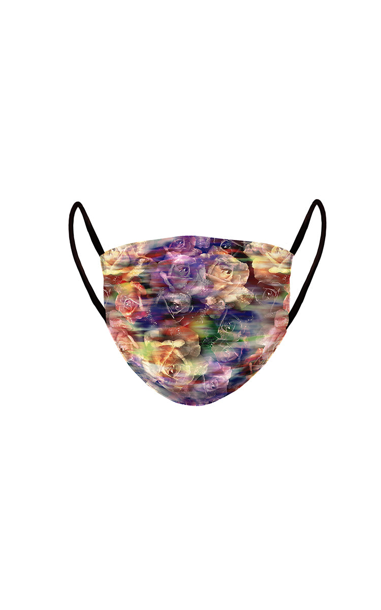 Abstract Roses Face Mask