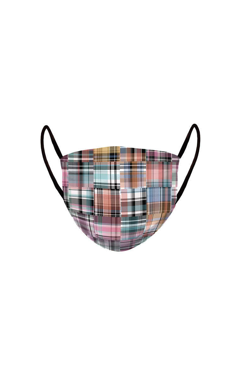 Happy Plaid Face Mask