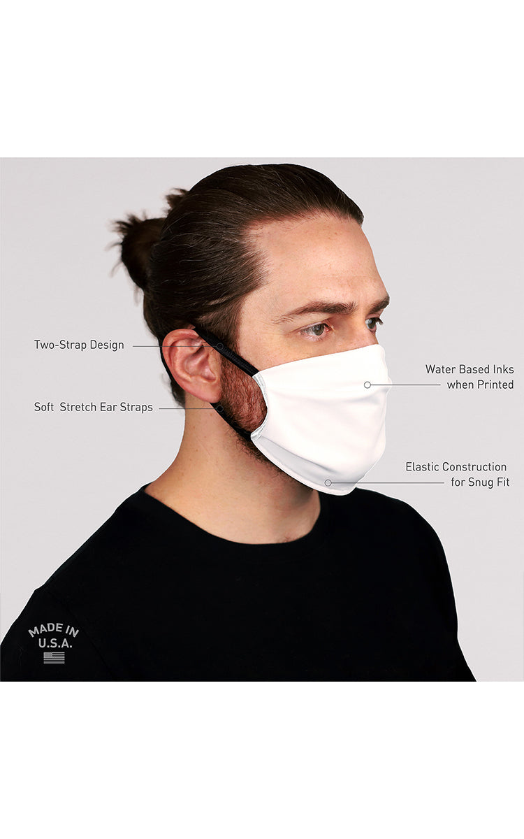 Cross Motif Face Mask