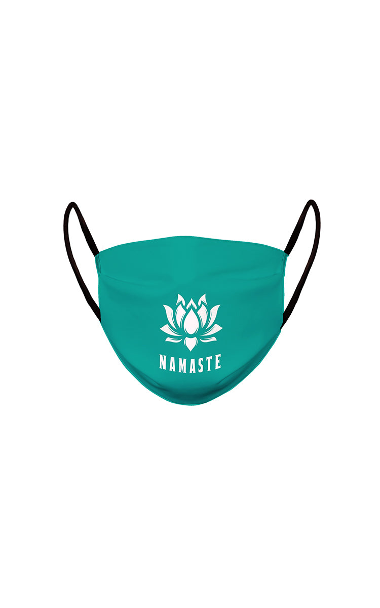 Namaste Face Mask Teal