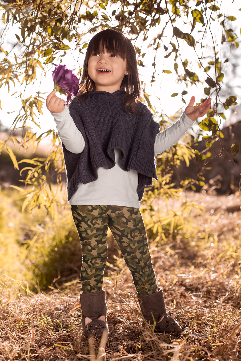 Basic Camo Kids Legging