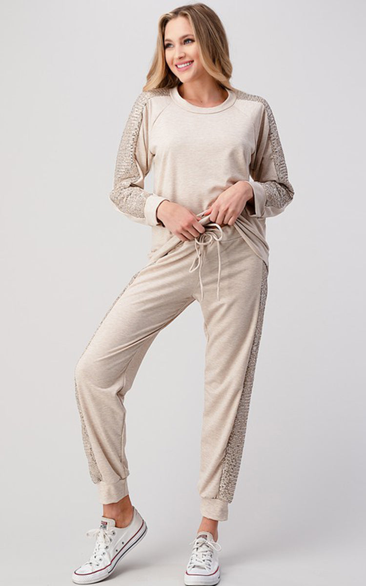 Sequin Loungewear Set