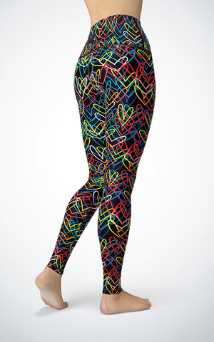 Graffiti Hearts H/R Legging