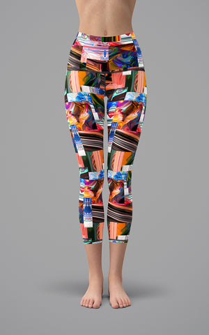 Abstract Patchwork H/R Capri