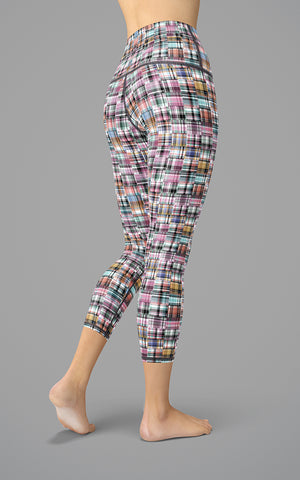 Happy Plaid H/R Capri