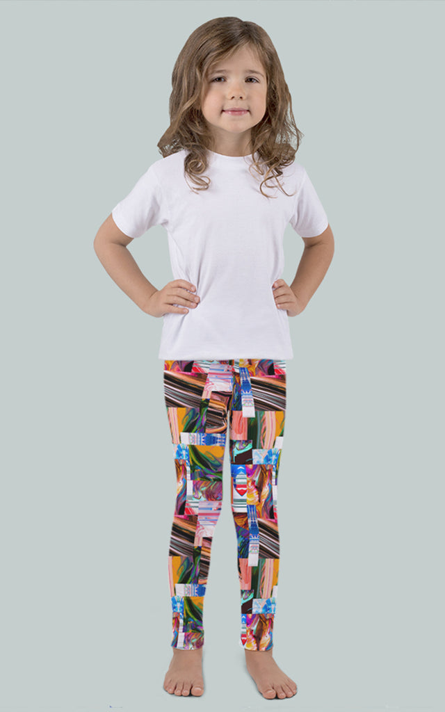 Abstract Patchwork Kids Legging
