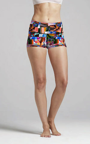 Abstract Patchwork M/R Short