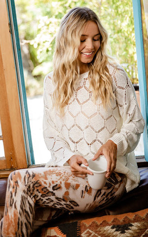 Geometric Pullover Sweater