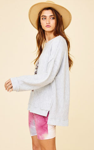 Gray Tunic Sweatshirt