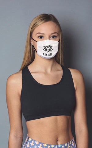 Namaste Face Mask White