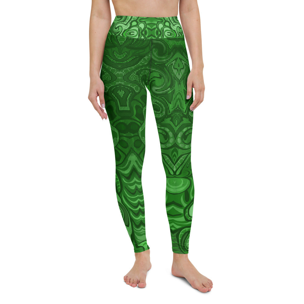 Dream in Green Yoga Leggings