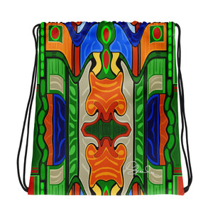 Tiki Drawstring Bag