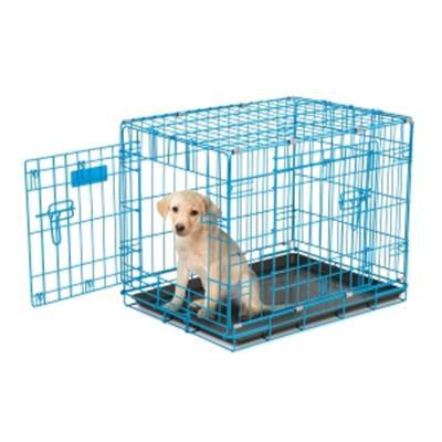 2 - Door Wire Puppy Crate - Blue - Posh Pet Glamour Boutique