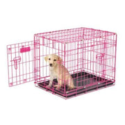 2 - Door Wire Puppy Crate - Pink - Posh Pet Glamour Boutique