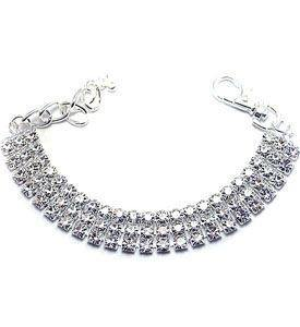 3 Row Rhinestone Necklace - Posh Pet Glamour Boutique