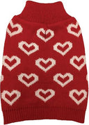All Over Hearts Sweater - Posh Pet Glamour Boutique