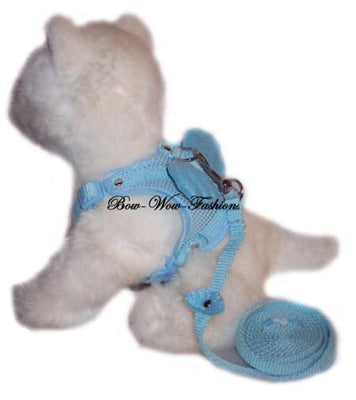 Angel Dog Harness Blue - Posh Pet Glamour Boutique