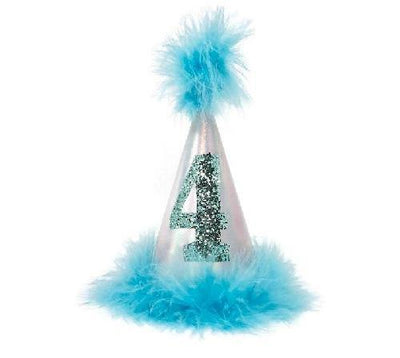 Aqua Iridescent Pawty Hats - Posh Pet Glamour Boutique