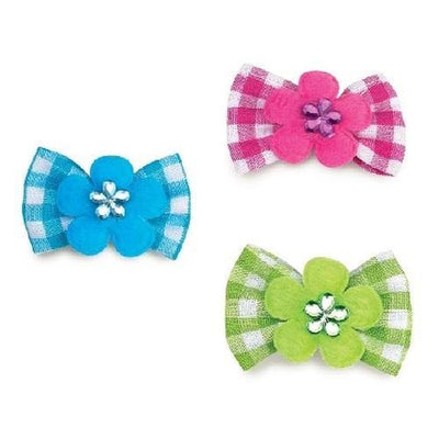 Aria Gingham Dog Bows - Posh Pet Glamour Boutique