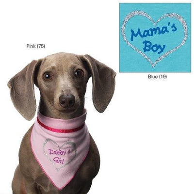 Aria Mamas Boy and Daddys Girl Bandanas - Posh Pet Glamour Boutique
