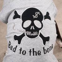 Bad to the Bone Shirt - Posh Pet Glamour Boutique