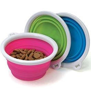 Bamboo Collapsible Silicone Travel Bowls - Posh Pet Glamour Boutique