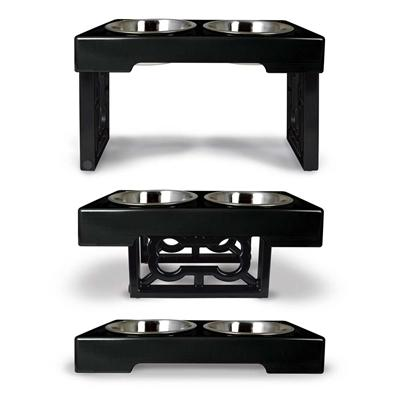 Barking Bistro Adjustable Elevated Feeder - Posh Pet Glamour Boutique