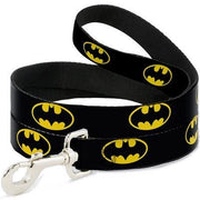 Batman Shield Black Yellow Leash - Posh Pet Glamour Boutique