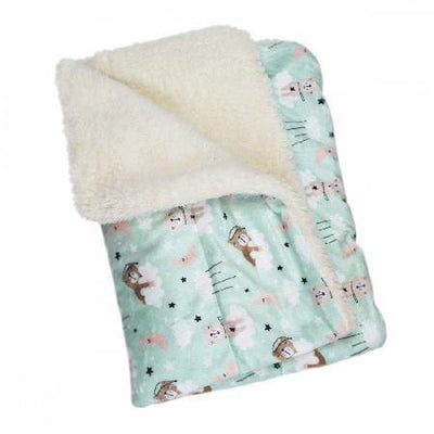 Bedtime Bear Blanket Flannel/Ultra-Plush Blanket - Posh Pet Glamour Boutique