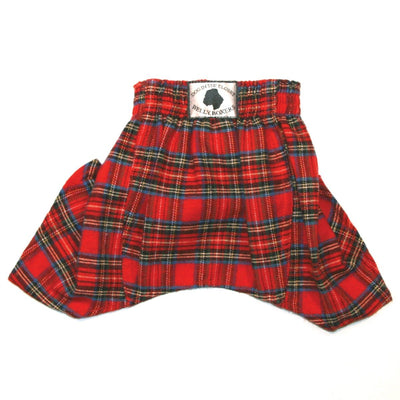 Belly Boxers-Red Flannel - Posh Pet Glamour Boutique