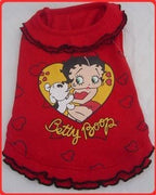 Betty Boop Allover Heart Ruffle Dress - Posh Pet Glamour Boutique