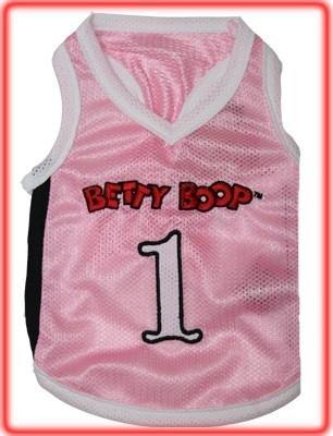 Betty Boop Pink Jersey - Posh Pet Glamour Boutique
