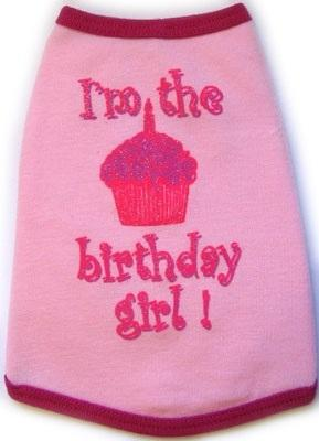 Birthday Girl Tank in Pink - Posh Pet Glamour Boutique