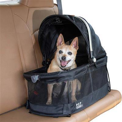 Black VIEW 360 Pet Carrier/Car Seat - Posh Pet Glamour Boutique