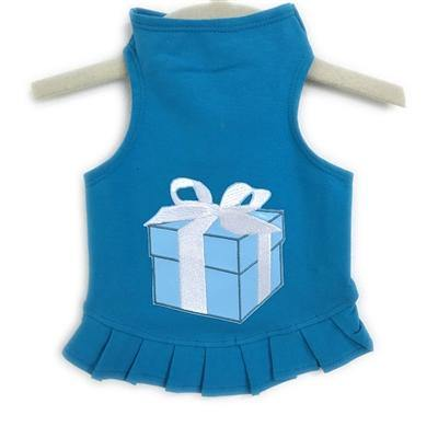 Blue Box Flounce Dress - Posh Pet Glamour Boutique