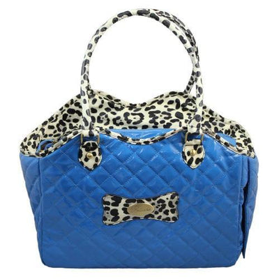 Blue Pet Travel Carrier Bag - Posh Pet Glamour Boutique