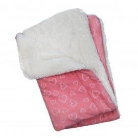 Blush of Hearts Fleece Ultra-Plush Blanket - Posh Pet Glamour Boutique