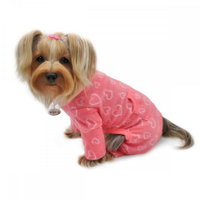Blush of Love Fleece Turtleneck Pajamas - Posh Pet Glamour Boutique