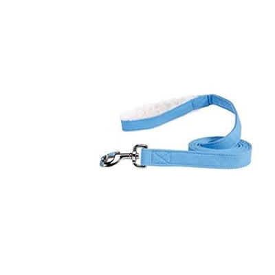 Bonded Sherpa Lead in Sky Blue - Posh Pet Glamour Boutique