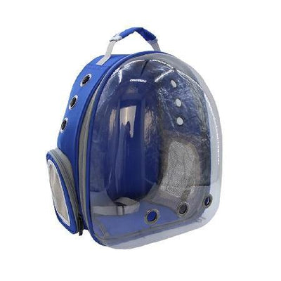 Bubble Pet Carrier- Blue - Posh Pet Glamour Boutique