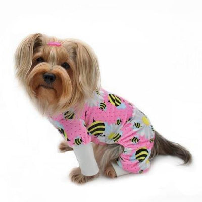 Bumblebee and Flowers Pajamas - Posh Pet Glamour Boutique