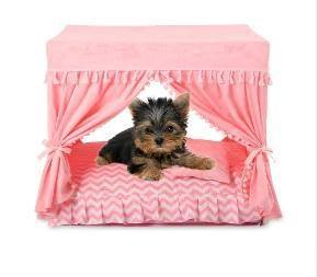 Canopy Bed- Pink - Posh Pet Glamour Boutique