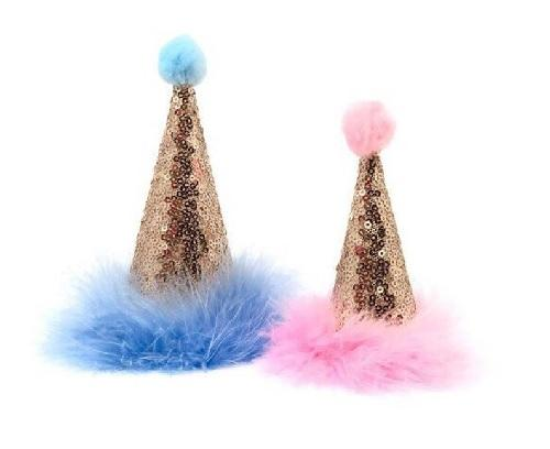 Champagne Gold Pawty Hats - Posh Pet Glamour Boutique