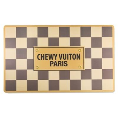 Checker Chewy Vuiton Placemat - Posh Pet Glamour Boutique